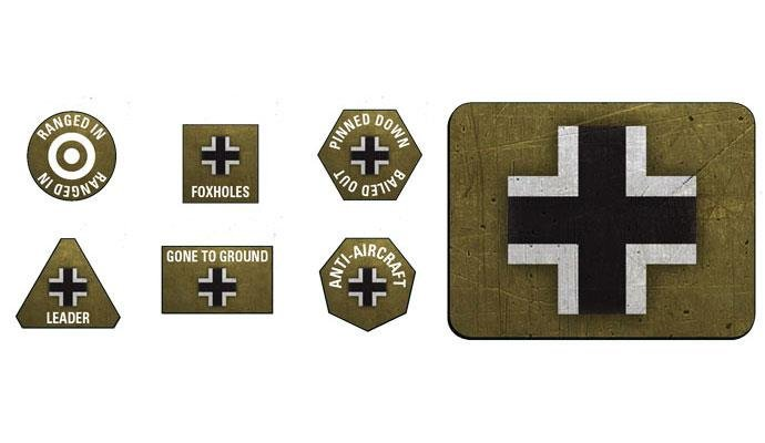 FOW - Late War German Token & Objective Set