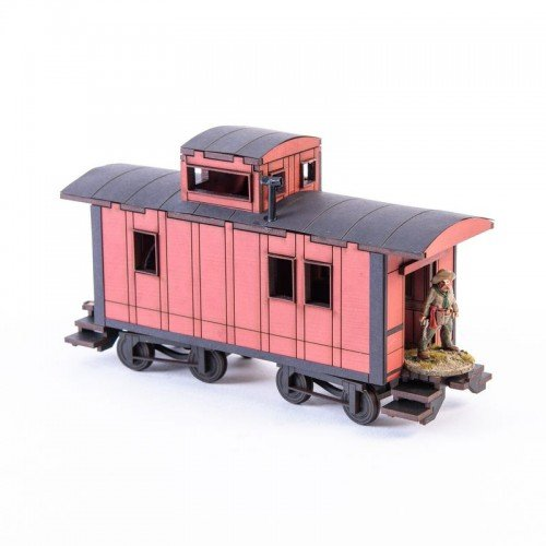 19th C. American Caboose (Red)