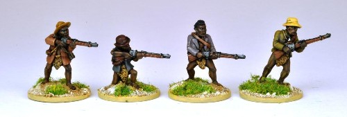 Matabele Rebels Firing Rifles