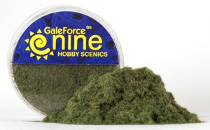 Hobby Round: Dark Green Static Grass