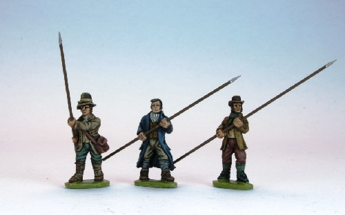 More United Irishmen pikemen, advancing.