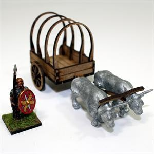 28mm Roman Ox Cart