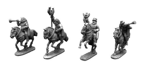 Scythian Musicians and Standards Mounted