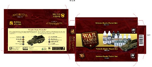 Vallejo WW2 Wargames Vehicle Basics paint set
