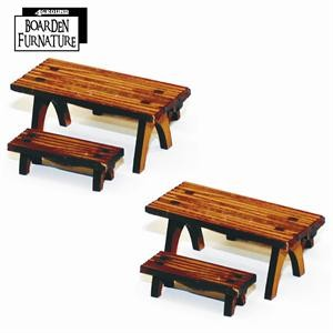 Short Trestle Table X 2 & Benches X 4