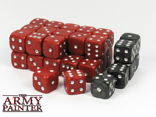 Wargaming Dice: Red w. Black