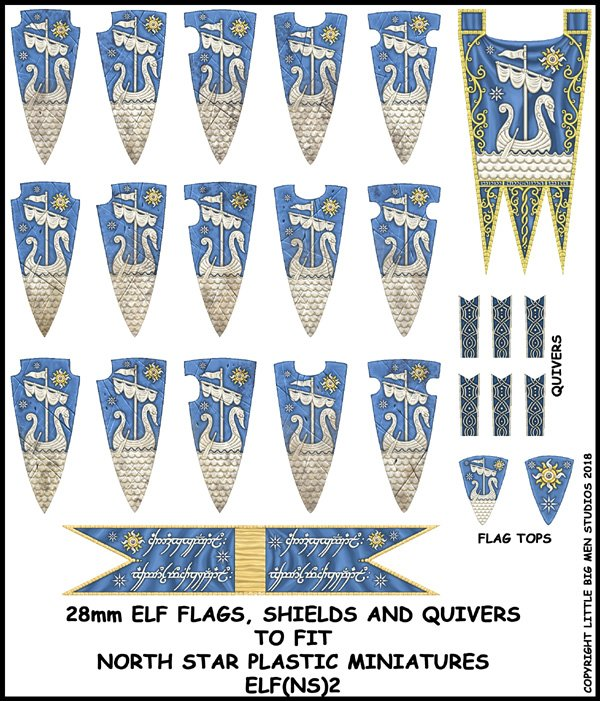 Elf Banner and Shields 2