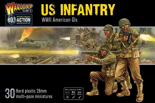US Infantry  - Plastic WWII American GI's