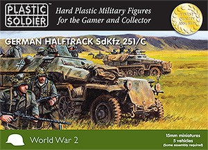 15mm WW2 German SdKfz 251 Ausf C Halftrack