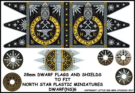 Dwarf Flag and Shields 2