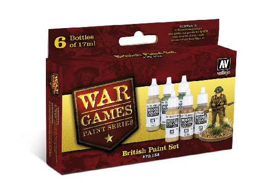 Vallejo WW2 Wargames British Infantry paint set