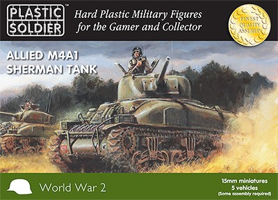 15mm Allied M4A1 75mm Sherman Tank
