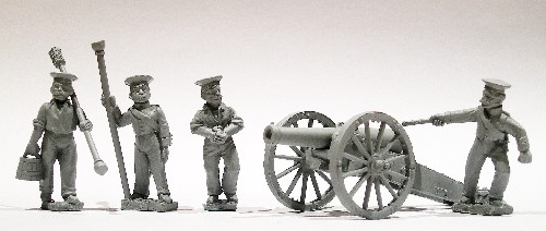 Russian 12pdr gun and four crew