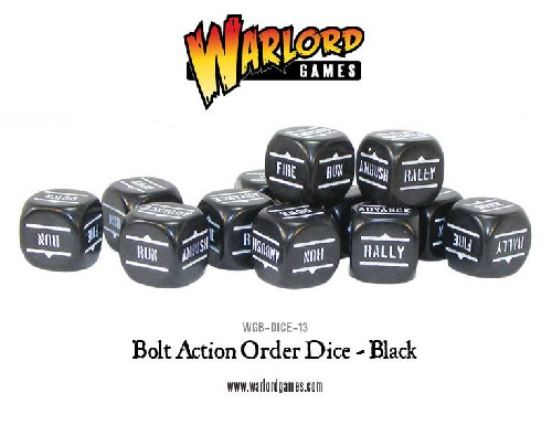 Bolt Action Orders Dice - Black