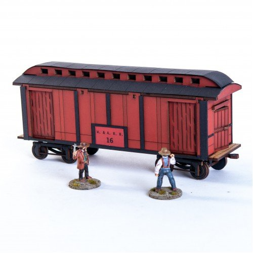 19th C. American Baggage Car (Red)