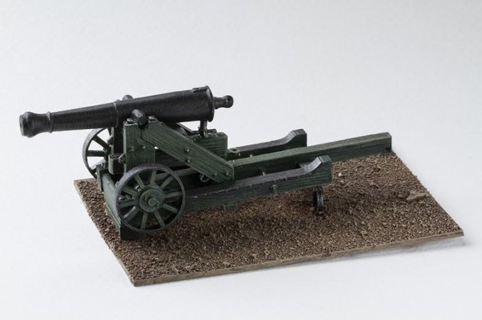 24pdr Siege Gun on a Barbette Carriage