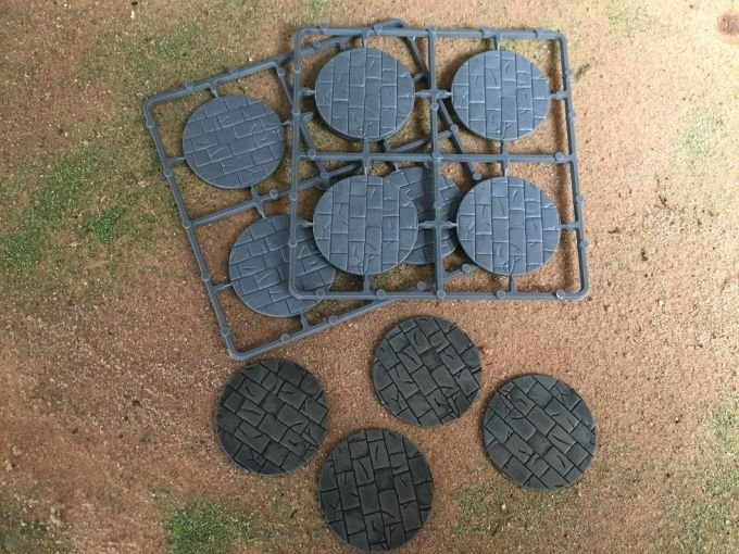 50mm Diameter Paved Effect Bases