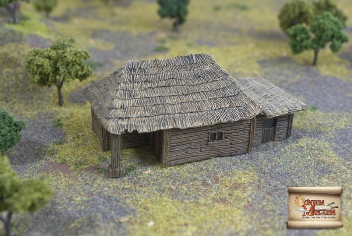 Big peasant hut with attachment