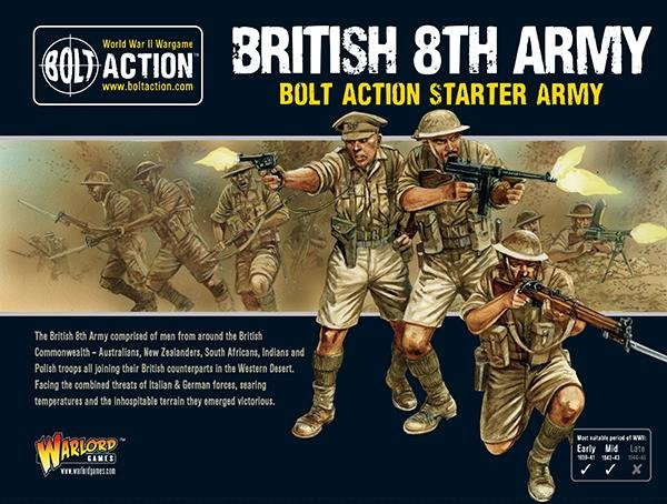 Bolt Action - British 8th Army Starter Set