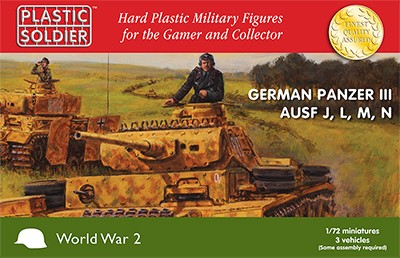 1/72nd German Panzer III J, L. M and N Tank