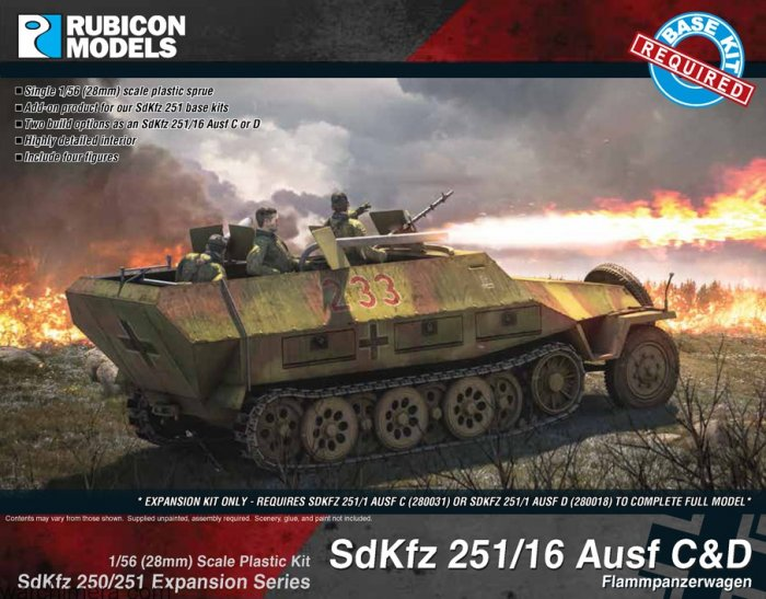 Photo of SdKfz 250/251 Expansion - 251/16 Ausf C/D (RU031)