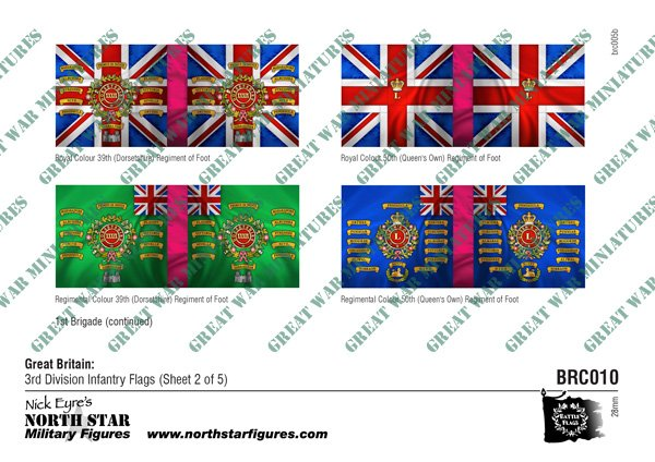 British 3rd Division Infantry Flags (Sheet 2 of 5)